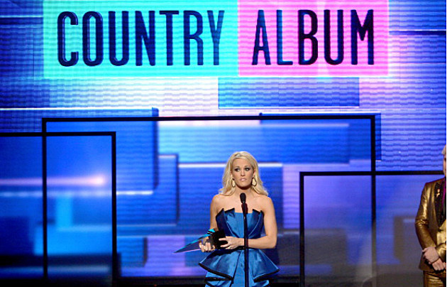 Carrie Underwood wins 'Favorite Country Album' at the American Music Awards