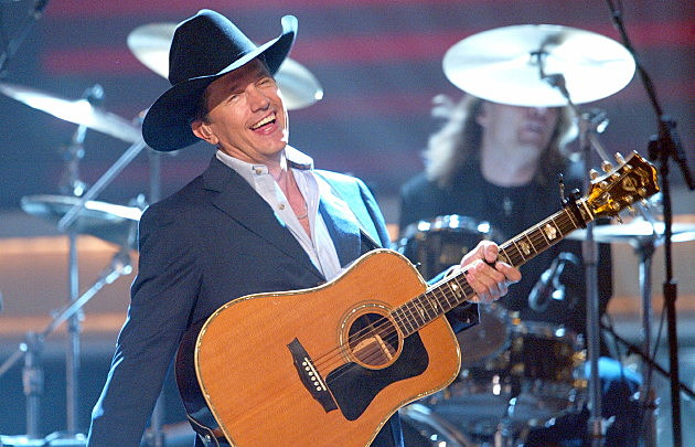 George Strait performs onstage
