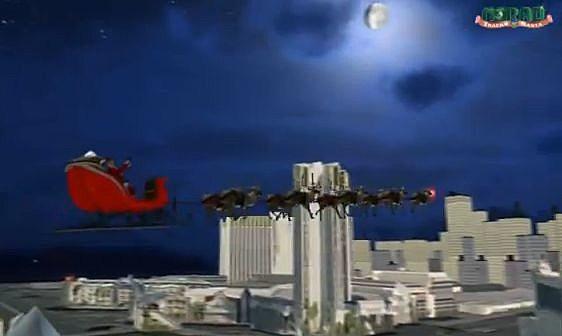 NORAD santa over the city