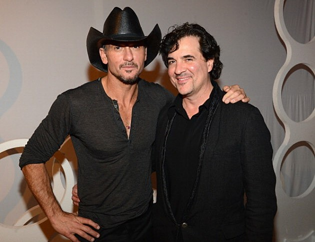 Tim McGraw and new boss Big Machine Label Group CEO Scott Borchetta