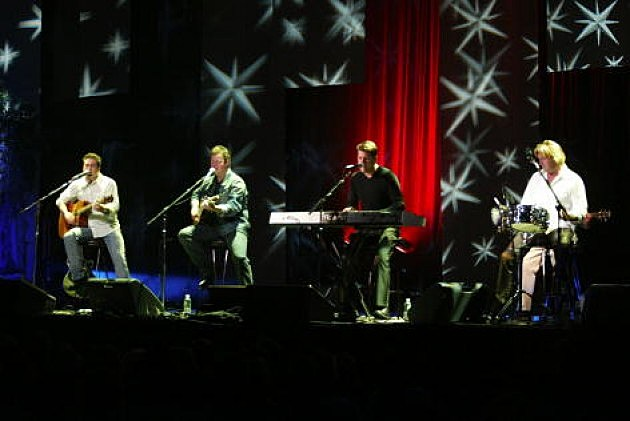 Lonestar performs on stage at Madison Square Garden New York City