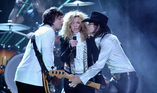 Neil Perry, Kimberly Perry, and Reid Perry of The Band Perry perform