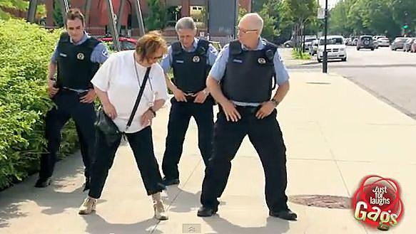 line dancing cops 2