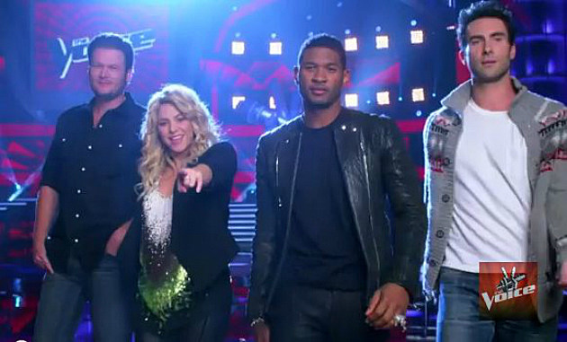 Blake Shelton, Shakira, Usher and Adam Levine, Coaches on Season 4 of 'The Voice'