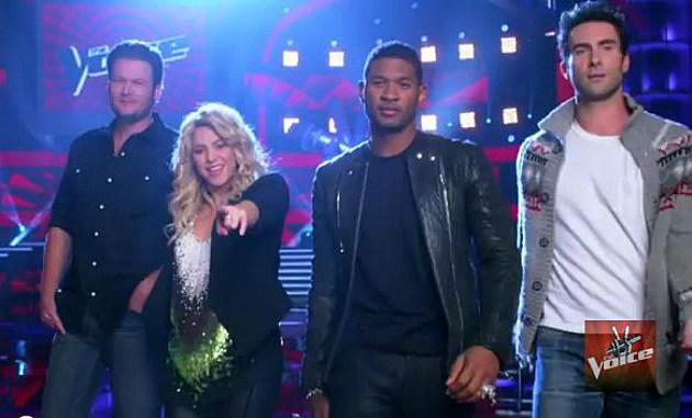 Blake Shelton, Shakira, Usher and Adam Levine, Coaches on Season 4 of 'The Voice'