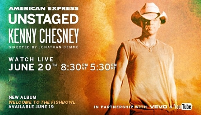Kenny Chesney American Express banner ad