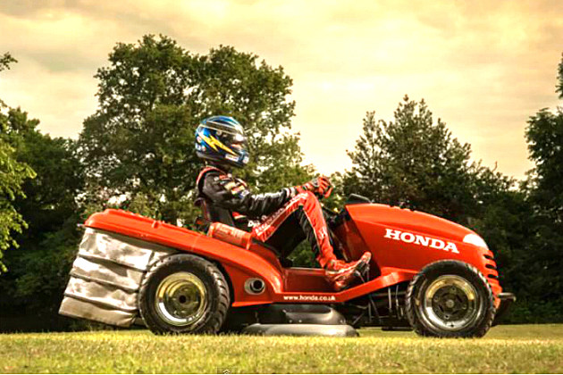 Honda's Lean Mean Lawn Mowing Machine