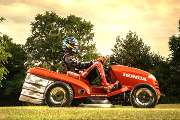 Honda's Lean Mean Lawn Mowing Machine