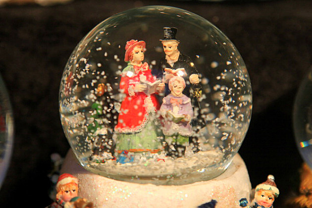 Christmas Snow Globe on Display