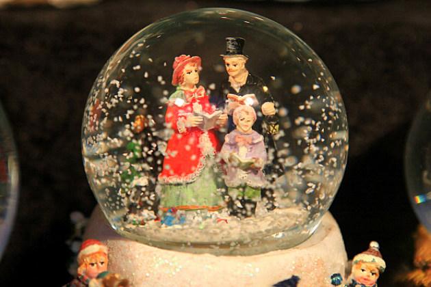 Christmas Snow Globe on Display