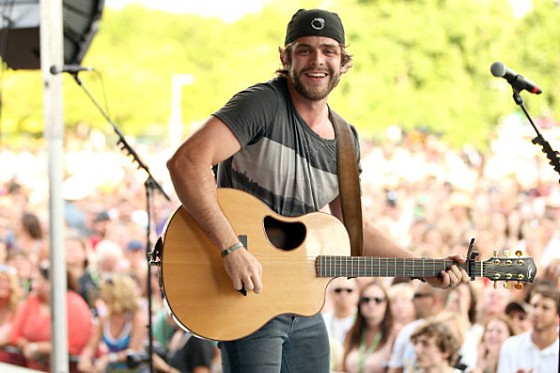 Thomas Rhett performs at the 2013 Tailgate Party