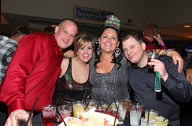Party goers attend the New Year's Eve