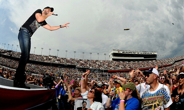 Luke on stage at Daytona