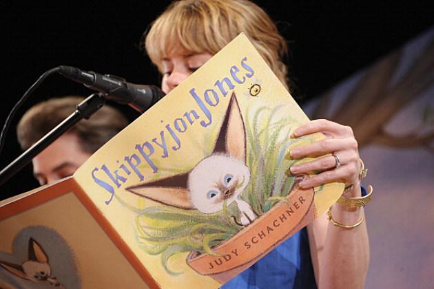 A Girl Reading From Skippyjon Jones