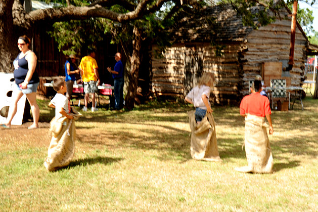 Taylor County Historic Center Sack Races