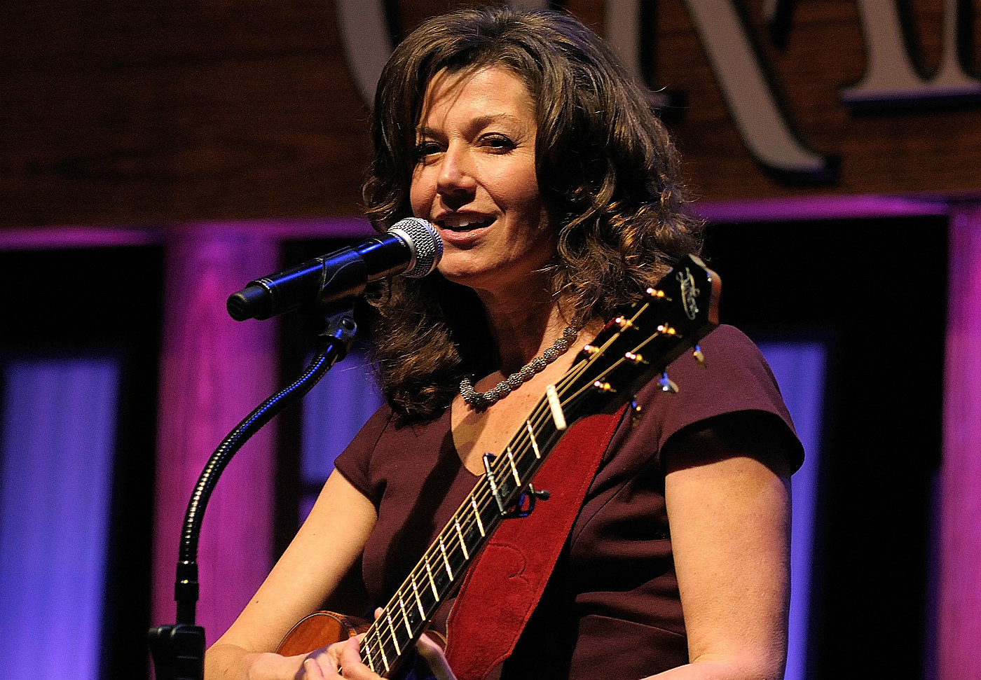 Amy Grant and Guitar on Stage